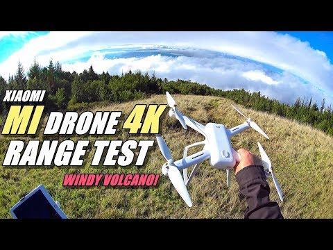 XIAOMI MI Drone 4K Review - Part 3 - [3 Mile In-Depth Range Test on Windy Hawaiian Volcano!]