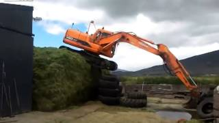 How to get your 14 ton digger off the Silage pit