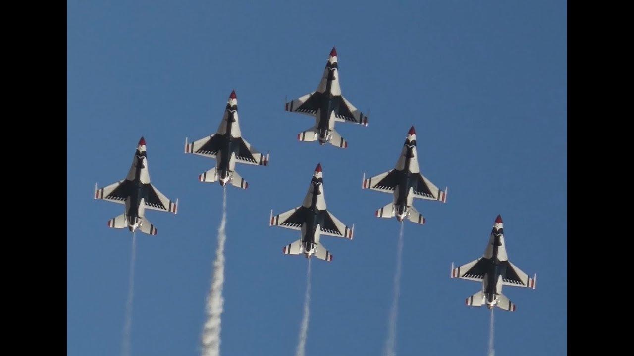 4K | USAF Thunderbirds at Aviation Nation 2016 | Nellis Air Force Base, Las Vegas