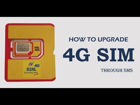 How to Upgrade BSNL 4G SIM Card Services through SMS
