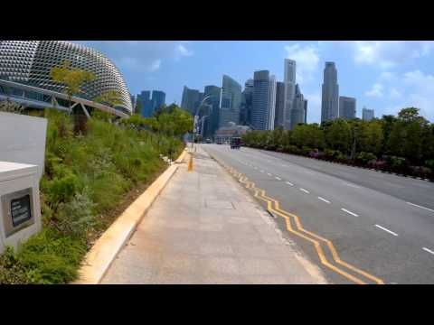 Singapore, walking from South Beach Towers to Fullerton Heritage Promenade