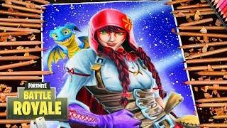 Drawing Fortnite Battle Royale Fable Skin Season 6 - Drawing Fabula Season 6 Little Red Riding Hood