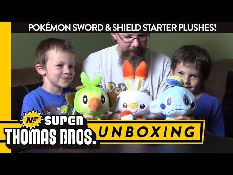 unboxing-pokémon-sword-&-shield-starter-plushes!-–-super-thomas-bros.