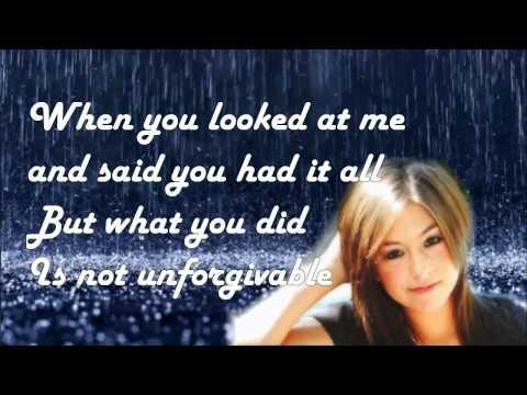 Christina Grimmie - Unforgivable - Lyrics On Screen