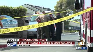 Crews begin search through deadly Encinitas bluff collapse