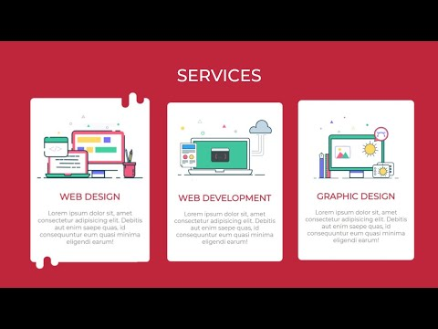Responsive Services Section Using HTML, CSS (Flexbox)