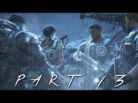 GEARS OF WAR 4 Walkthrough Gameplay Part 13 - Storm Warning (GOW 4)