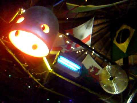 Northern Ireland Flag in Bull And Bush Pub - Gaborone - Botswana - January 2011