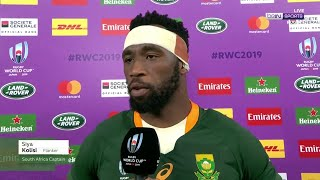 Springboks' captain Kolisi hails the importance of his team's subs vs Wales | RWC 2019 Moments