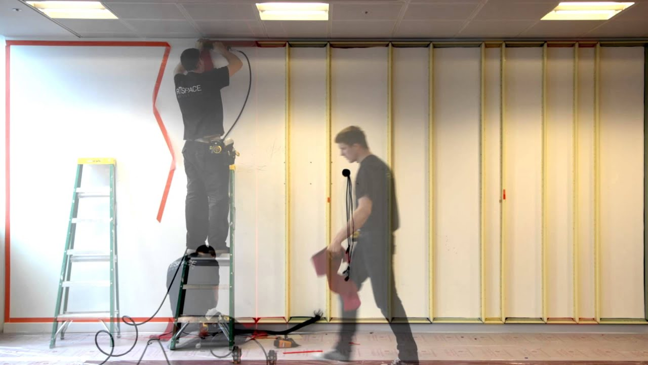 Acoustic Fabric Walling - YouTube