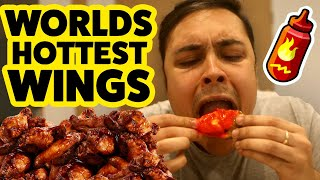 EATING THE WORLDS HOTTEST CHICKEN WINGS CHALLENGE