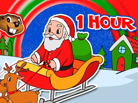 Santa Claus is Coming to Town + More  1 Hour Kids Christmas Songs & Carols  Rudolph, Jingle Bells