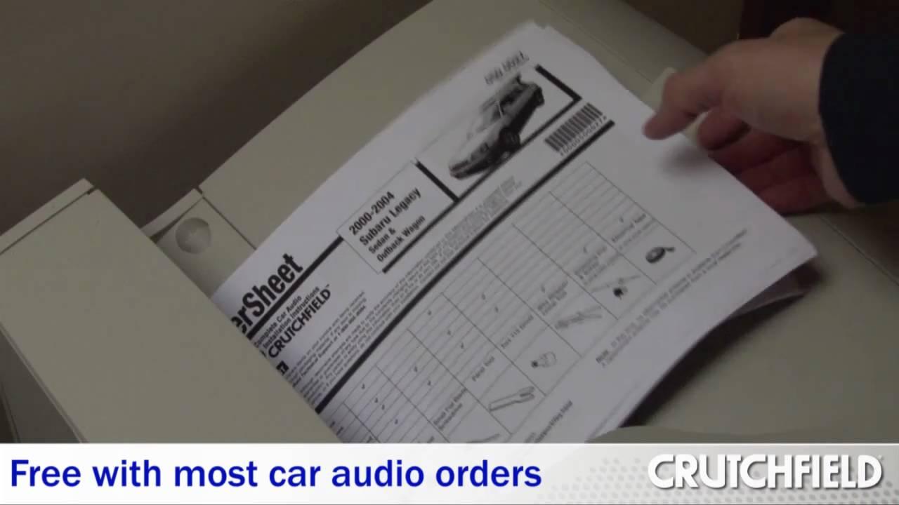 crutchfield mastersheet complete car audio installation instructions crutchfield video youtube [ 1280 x 720 Pixel ]
