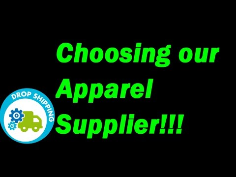 Drop Shipping on Shopify Case Study - Day 5 Choosing the Supplier for Drop Shipping Custom Apparel