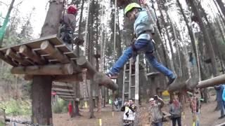 Przygoda w parku linowym dla dzieci – Krynica-Zdrój video