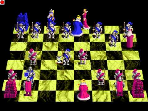 """Old School DOS """"Battle Chess"""" Check Mate vs Computer"""