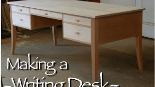 Making a Custom Desk, This video shows the making of a Custom Writing Desk. This Writing Desk is handmade of solid cherry and