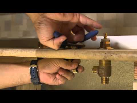 installing a 2 handle roman tub fuacet pasadena collection