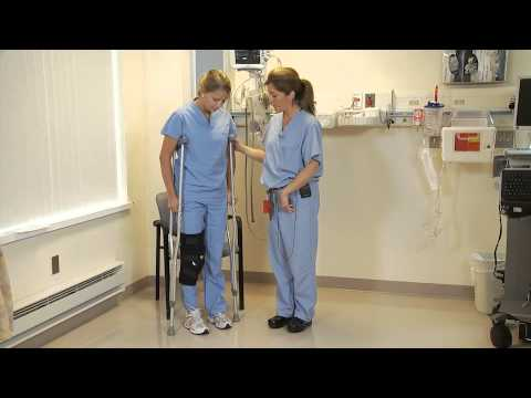 Post Operative Crutch Walking Weight Bearing As Tolerated Youtube