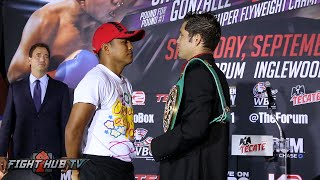 Roman Gonzalez vs Carlos Cuadras COMPLETE Face Off video
