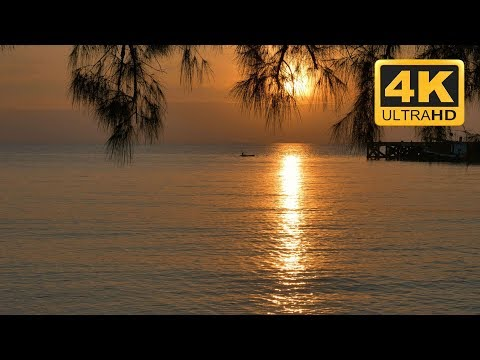 Sunset Sleep Aid - Relaxing Ocean Sounds - Golden Sunset