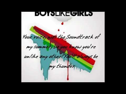 Boys Like Girls - Thunder lyrics