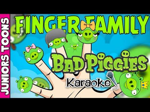 ANGRY BIRDS BAD PIGGIES FINGER FAMILY SONG KARAOKE #ANGRYBIRDS | JUNIORS TOONS