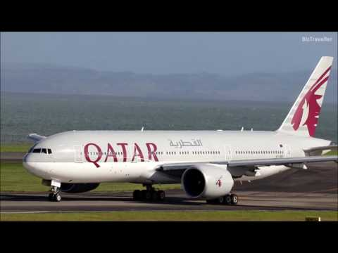 [Worlds Longest Flight] Qatar Airways 777-200LR departs non-stop for Doha.