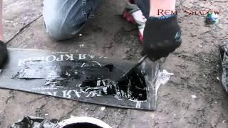 видео битумная мастика для гидроизоляции кровли