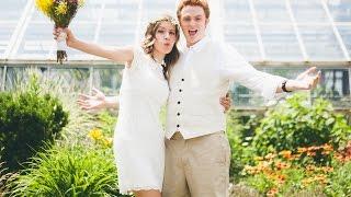 SAM & AUDREY'S WEDDING: Summer Wedding in a Beautiful Greenhouse