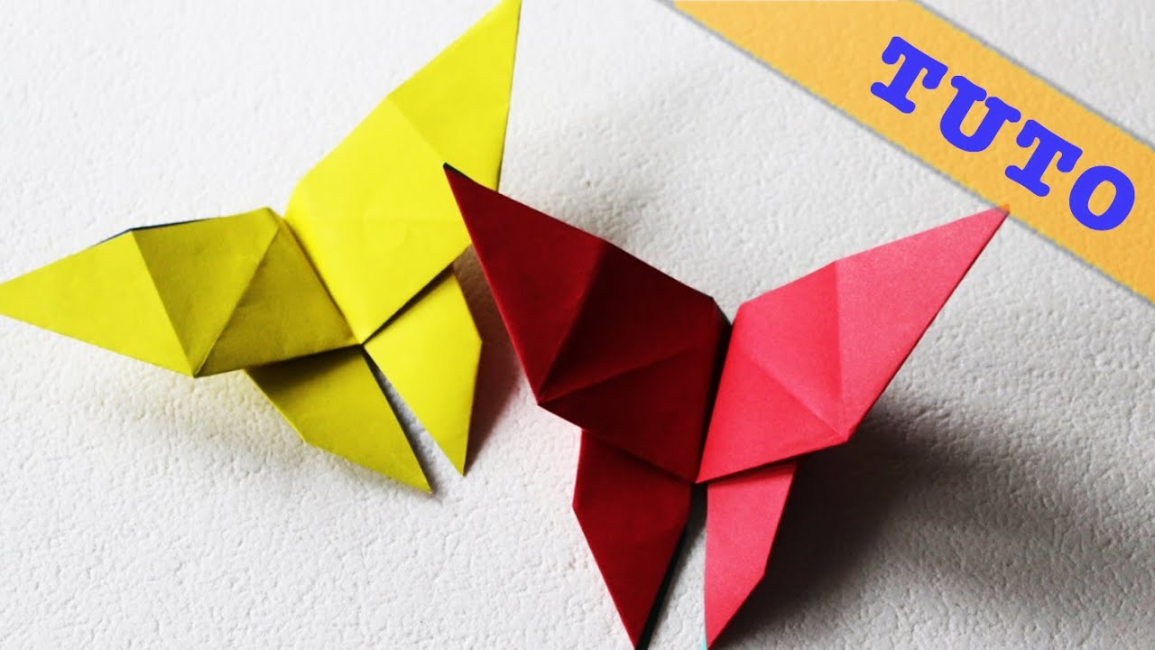 Souvent ORIGAMI - Pliage d'un papillon en papier - YouTube RE87
