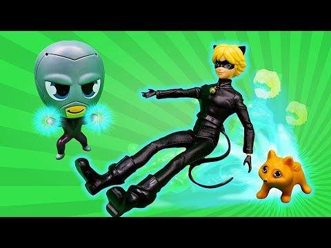 Супер Кот теперь котёнок?! Игрушки из мультфильма Леди Баг в видео для девочек.