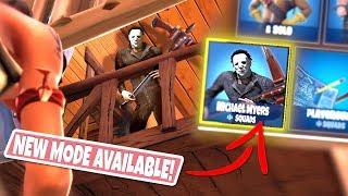 *NEW GAMEMODE* MICHAEL MYERS Custom Gamemode in Fortnite Lonely Lodge! (DEFENDING THE LODGE!)