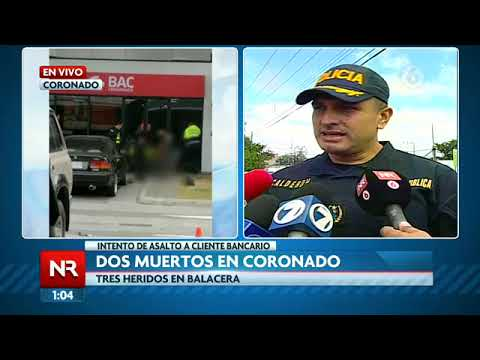 Balacera dejó a dos fallecidos y tres heridos en Coronado