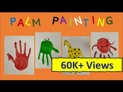 DIY: How To Make A Frog / Hen / Giraffe / Octopus | Handprint Animals | Palm Painting#kidspainting