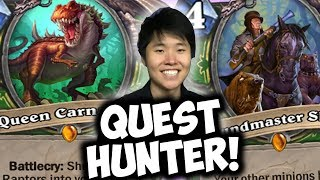 HOUNDMASTER SHAW IS AMAZING IN QUEST HUNTER | THE WITCHWOOD | HEARTHSTONE | DISGUISED TOAST