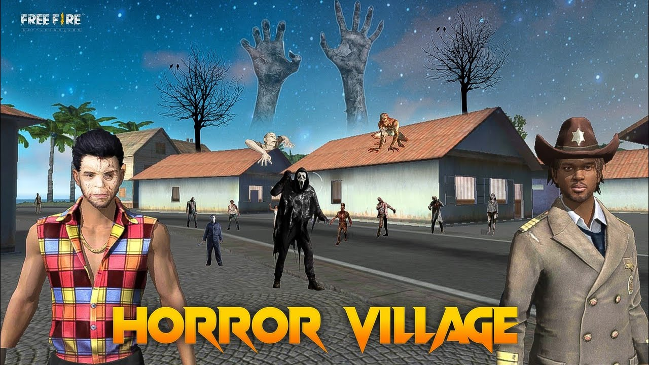 Horror Village [ भूतिया गाँव ] Free fire Horror Adventure Short Story in Hindi || Free fire Story