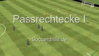 Warm Up Pass im Rechteck - Aufwärmen - Fußballtraining auf Soccerdrills.de