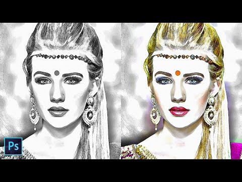 How to Transform Photos to Pencil Sketch Effect in Photoshop - Turn A Portrait To Pop Up Drawing