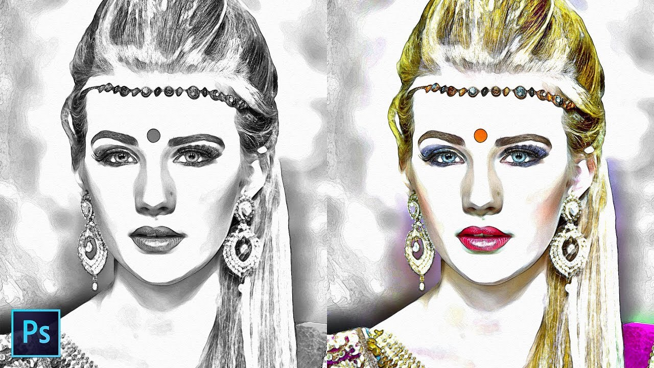How to transform photos to pencil sketch effect in photoshop turn a portrait to pop up drawing