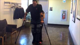 Download Video Spinal Cord Injury: Kevin Oldt Walks in KAFO Leg Braces MP3 3GP MP4