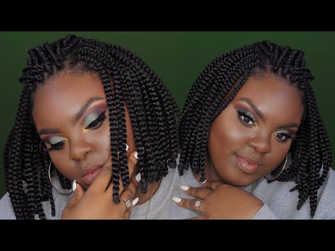90s Inspired Bob Box Braids What Crochet 2 Hours Max Joynavon Youtube