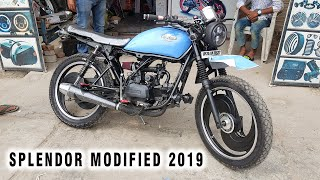 Hero Splendor Modified Into Cafe Racer | 2019 | Kamal Auto Nikhar