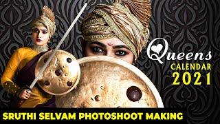 "Actress SHRUTHI SELVAM ""RANI LAKSHMIBAI"" Photoshoot Making   Queens Calender 2021"