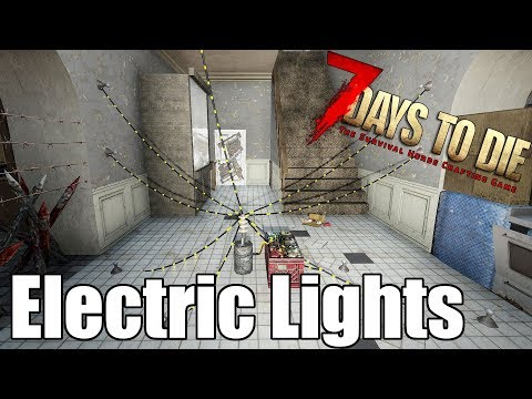 7 Days to Die - Electrical Lights - Heat Map - Do They Raise The Heat Map? (Alpha 17)