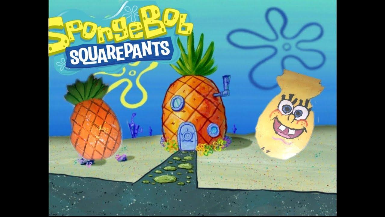 SpongeBob Pineapple Craft: DIY - YouTube