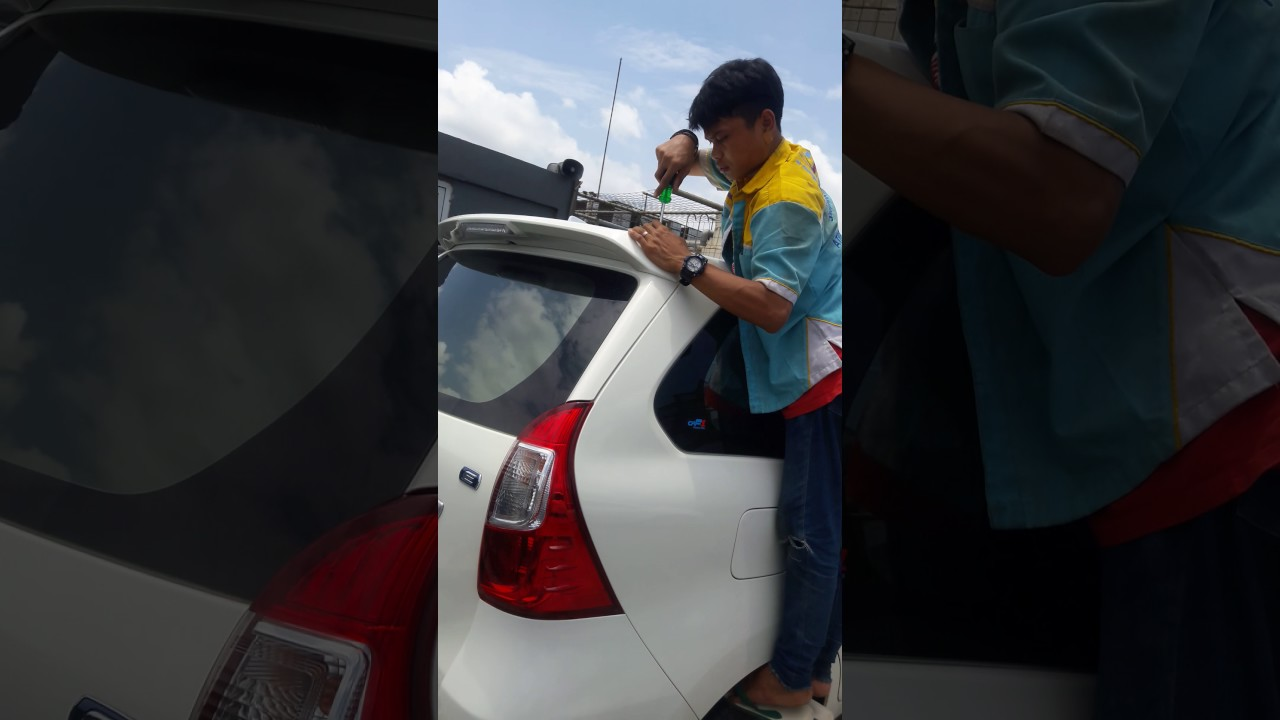 Spoiler Grand New Avanza Perbedaan E Dan G 2016 Cara Pasang Simple Youtube