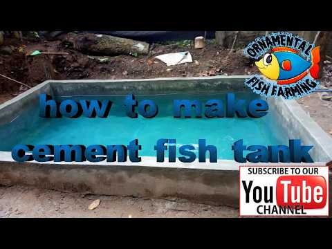 how to make a cement fish tank