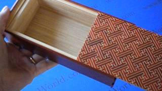 7 Sun 7 Step Saya/natural Wood Japanese Puzzle Box