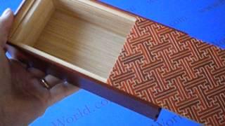 7 Sun 7 Step Saya/natural Wood Japanese Puzzle Box